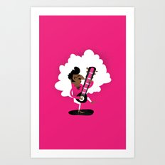 Sitar Superstar Art Print