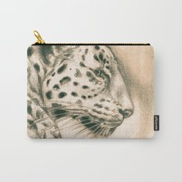 Jaguar In Sepia Carry-All Pouch