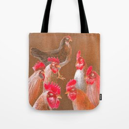 The New Chick On The Block In Red Tote Bag
