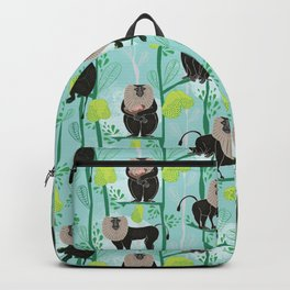 Lion tailed macaque Backpack