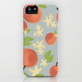 Oranges & Blossoms iPhone Case