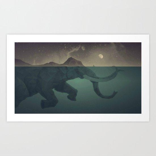 Elephant mountain Art Print