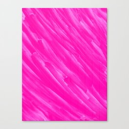 Hot Pink Happiness Canvas Print