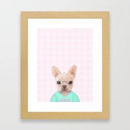 Portrait Of French Bull Dog Framed Art Print