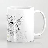 cheetah Mugs featuring Cheetah by zoza