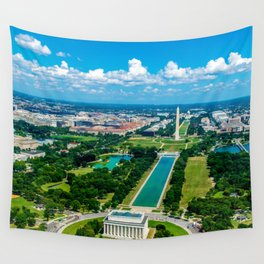 DC from Above Wall Tapestry
