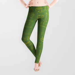 Gardening and Farming! - illustration pattern Leggings
