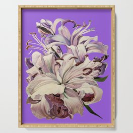 """""""Purple Lilies"""" Serving Tray"""