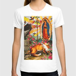 Virgin Mary , Fox and Vulture. T-shirt