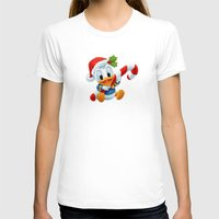 donald duck T-shirts featuring Christmas baby Donald Duck by Yuliya L