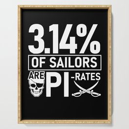 Math Pi Pirate Funny Gift Serving Tray