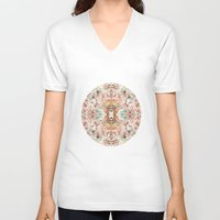 minerals V-neck T-shirts featuring Mystic Minerals by Caroline Sansone