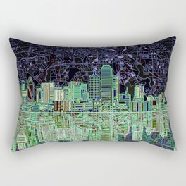 Dallas city skyline Rectangular Pillow