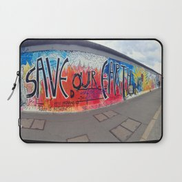 Save Our Earth Berlin Wall Laptop Sleeve
