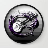 bass Wall Clocks featuring Music - Bass by yahtz designs