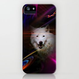 Full moon - Blood moon  fascination wolf iPhone Case