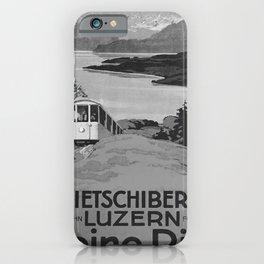 retro noir Kleine Rigi poster iPhone Case