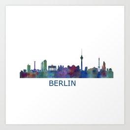 Berlin City Skyline HQ Art Print