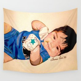 Baby Portrait Wall Tapestry