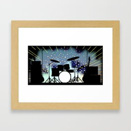 Bright Rock Band Stage Framed Art Print