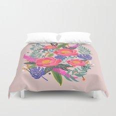 Romantic Blossom, flower print, floral print Duvet Cover