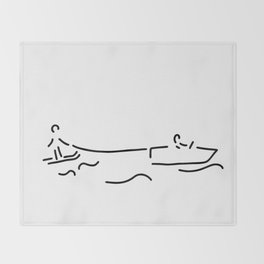 water-ski boat waterski Throw Blanket
