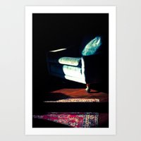 sofa Art Prints featuring sofa by Shannon Sadler