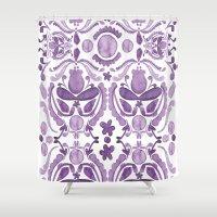 scandinavian Shower Curtains featuring Scandinavian Watercolor by revel designs