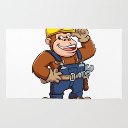 Cartoon of a Gorilla Handyman Rug