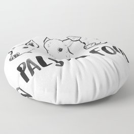Pals Not Food Illustration by Laura Tubb Floor Pillow