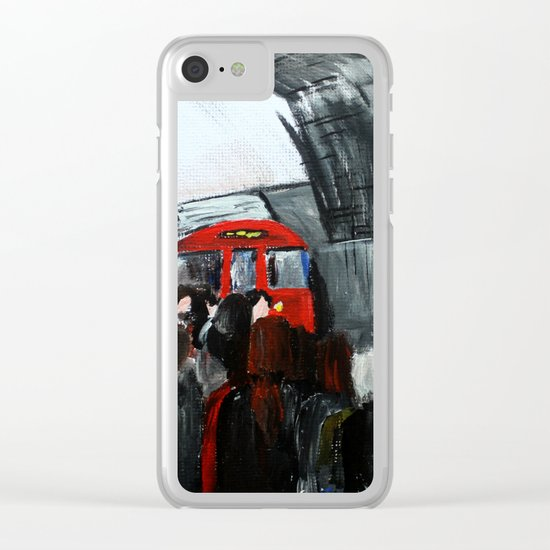 London Underground Part 3, England Acrylic On Canvas Board Fine Art Clear iPhone Case