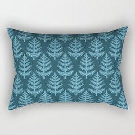 Hand drawn stylized Christmas tree pattern. Rectangular Pillow