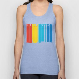 Retro 1970's Style Burlington Vermont Skyline Unisex Tank Top