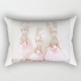 Bunnies Pretty in Pink Rectangular Pillow