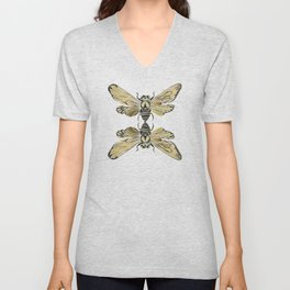 Summer Cicada – Black & Gold Palette Unisex V-Neck