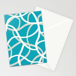 ABSTRACT LINES 001 Stationery Cards