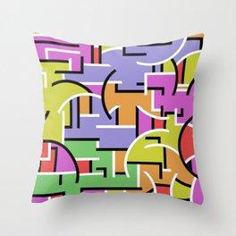 Segregation Of Colour Throw Pillow