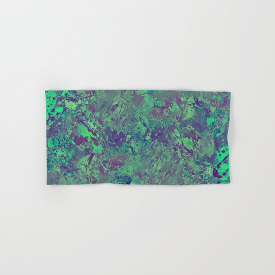 Cool And Calm - Abstract blue and purple painting, icy, chilled out, calming, relaxing artwork Hand & Bath Towel