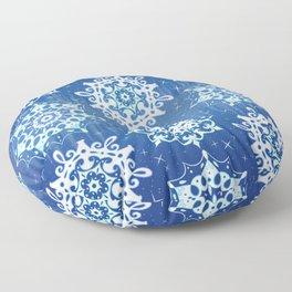 Sparkly Snowflakes Floor Pillow