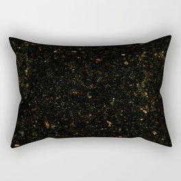 Gold Black Granite Marble Rectangular Pillow