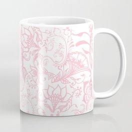 Pastel pink white henna hamsa Hand of Fatima floral mandala Coffee Mug