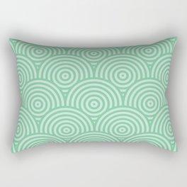 Geometric Scales Pattern - Greens #582 Rectangular Pillow