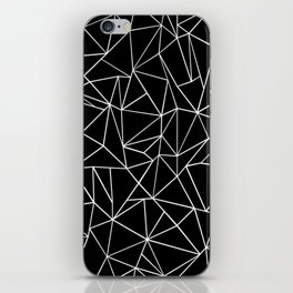 Abstraction Outline Black and White iPhone Skin