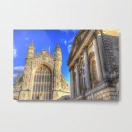 Bath Abbey And Roman Baths Metal Print