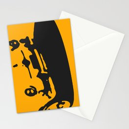 Fiat 600 Detail, Yellow on Black Stationery Cards