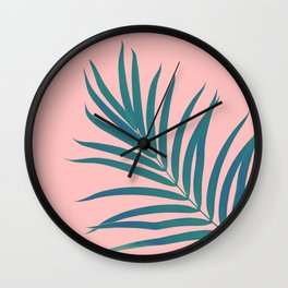 Tropical Palm Leaf #3 #botanical #decor #art #society6 Wall Clock