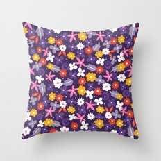 Ditsy Heart Throw Pillow
