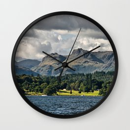 The Langdale Hills from Windermere, Lake District Wall Clock