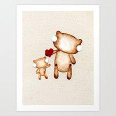 Zombie Bear - I love you! Art Print