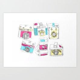 Multiple Camera Print Art Print